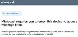 URL Protect enrollment